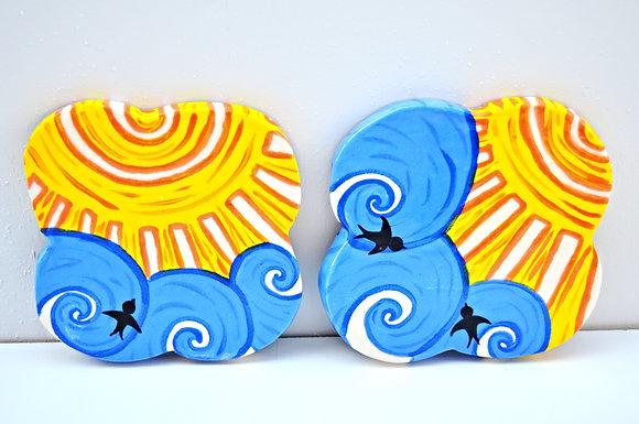 Blue Skies Coasters