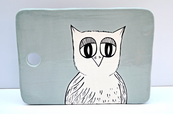 Owl Cheese Board