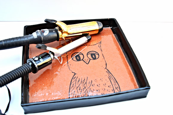 Terra-Cotta Owl Tray