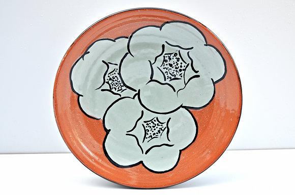 Terra Cotta Blooming Flower Dessert plate