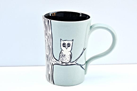 Owl + Branch Mug