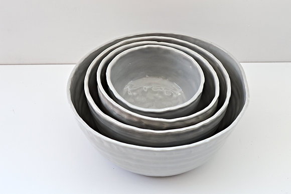 Gray Scale Nesting Bowls