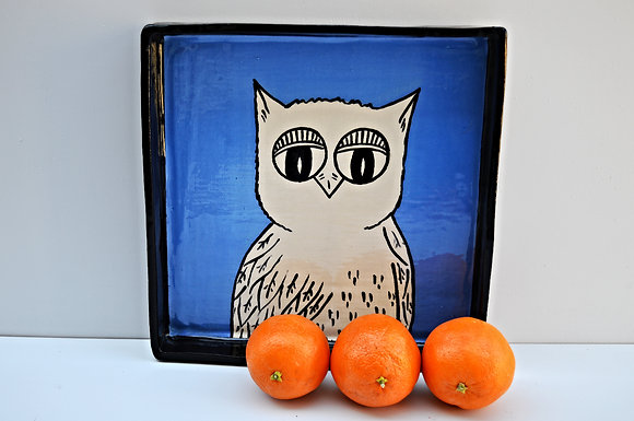 Blue Owl Tray