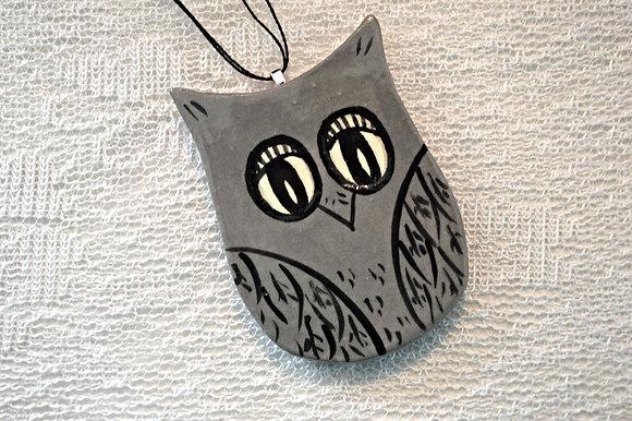Grey Owl Ornament
