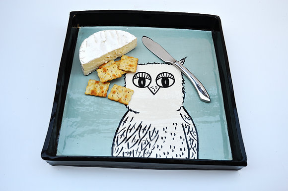 Aqua Owl Tray