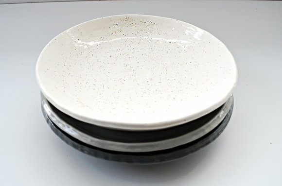 Gray Scale Salad Plate