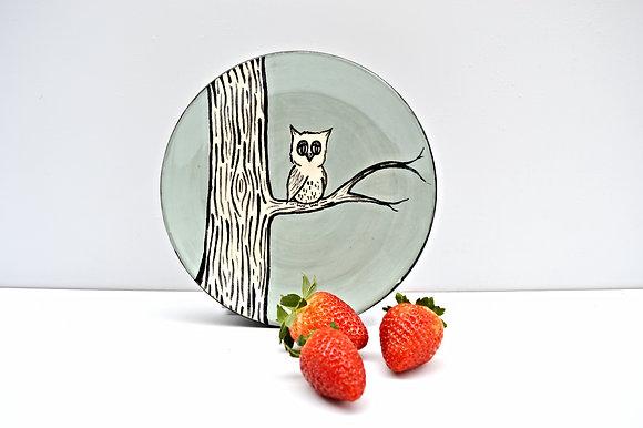 Owl + Branch Salad Plate