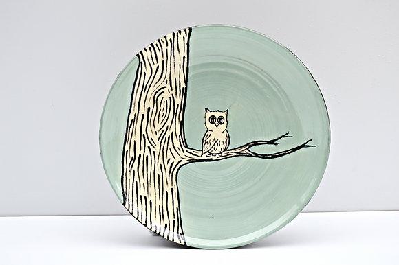 Owl + Branch Dinner Plate