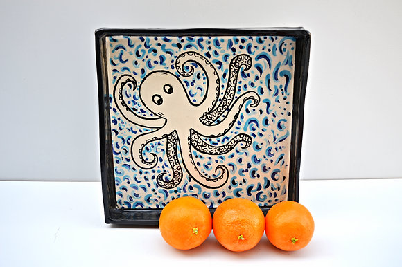 Octopus Tray in Blue