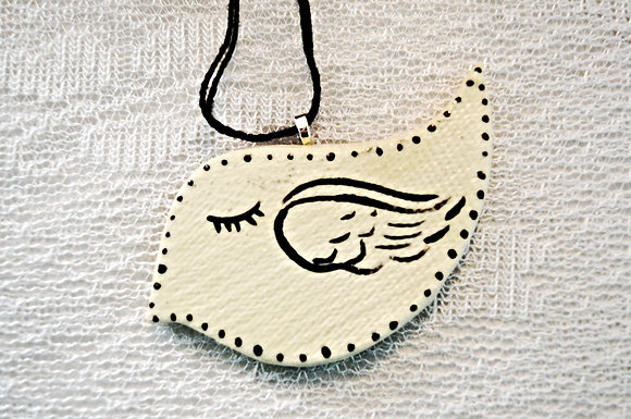 White + Black Bird Ornament