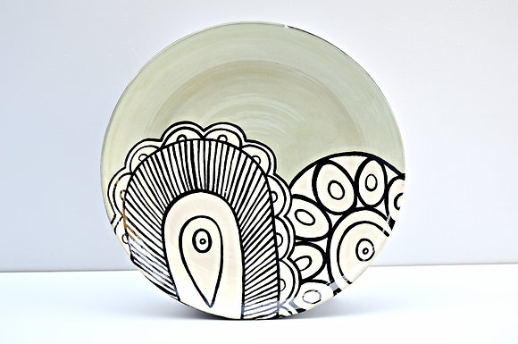 Paisley Salad Plate