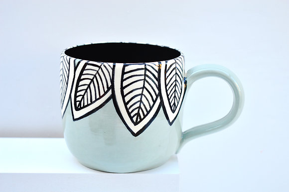 Aqua Leaf Mug