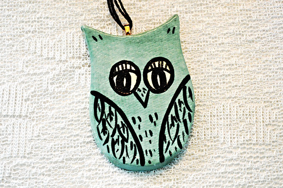 Teal Owl Ornament