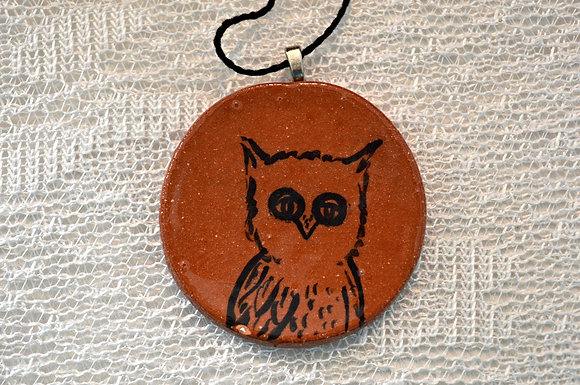 Terra cotta Owl Ornament