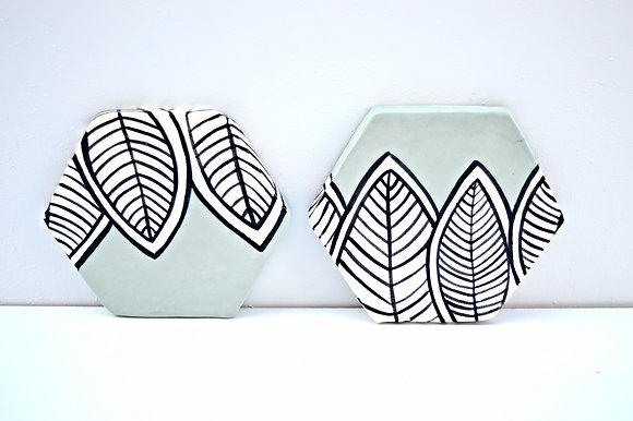 Aqua Leaf Coasters