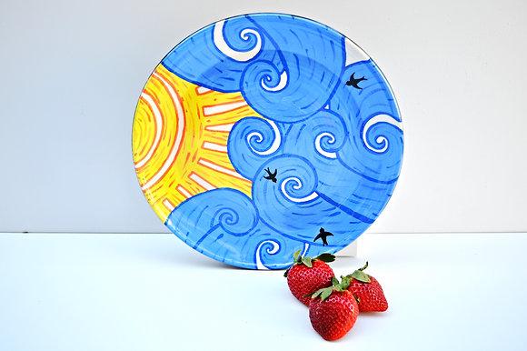 Blue Skies Dinner Plate
