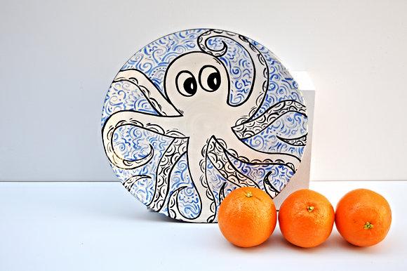 Octopus Dinner Plate