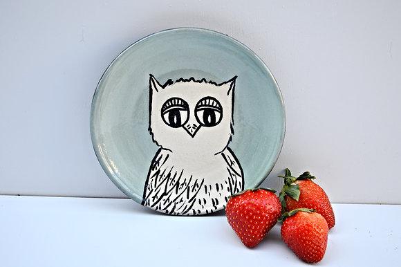 Owl Dessert Plate