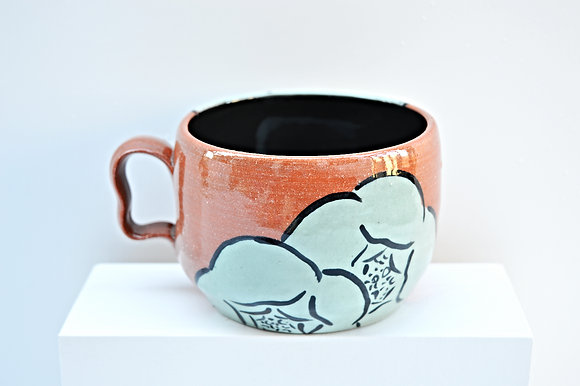 Terra Cotta Blooming Flower  Mug