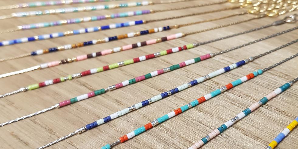 DIY bracelet fin en perle Miyuki
