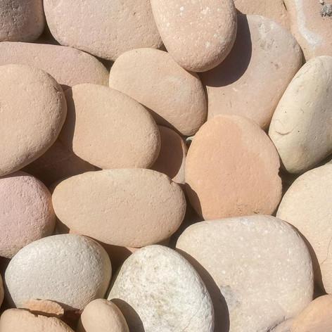 """Peach Beach Pebbles 3-4"""""""