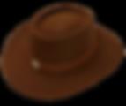 Sombrero chaparral de fieltro de pelo de liebre y nutria