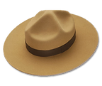 Sombrero Scout fieltro de pelo de liebre e impermeable