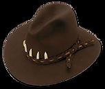Sombrero de fieltro de pelo de liebre y nutria