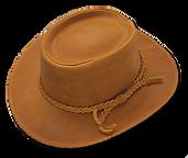 Sombrero de cuero engrasado impermeable.