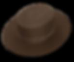 Sombrero español de dama fieltro de pelo de liebre y nutria