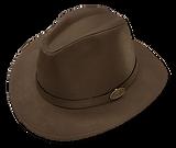 Sombrero de cuero engrasado