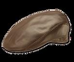 Gorra boina de cuero engrasado