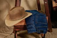 Sombrero Australiano Cuero Nobuk - Jean Victoria Clásico