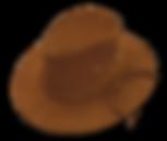 Sombrero de cuero nobucado flexible