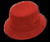 Sombrero de dama realizado con fieltro de pelo de liebre y nutria