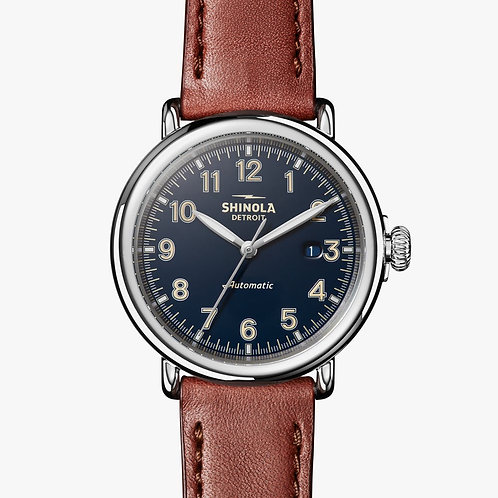 The Runwell Automatic 45mm in Dark Cognac