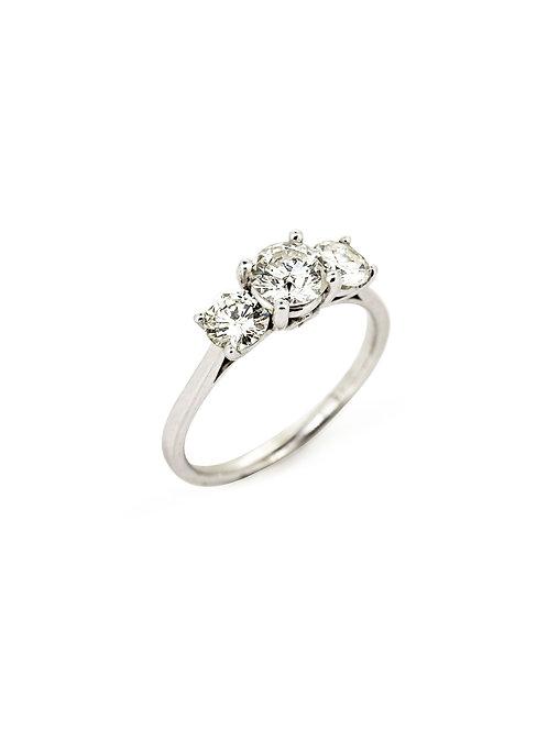 14KW 3-Stone Diamond Ring