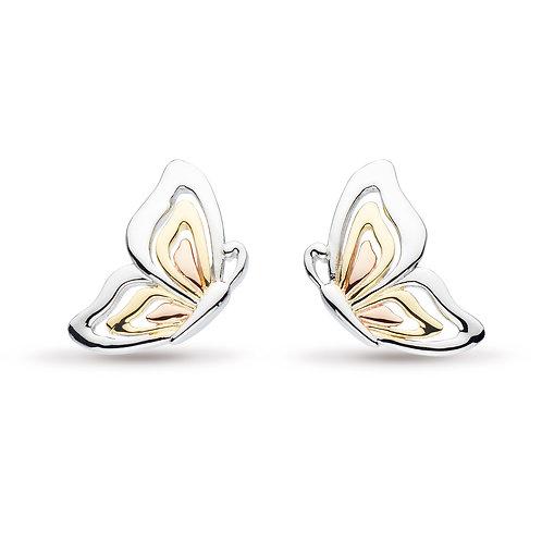 SS/GP Butterfly Stud Earrings
