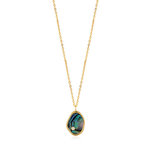 SS/GP Abalone Necklace