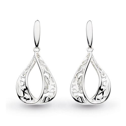 SS Blossom Teardrop Earrings