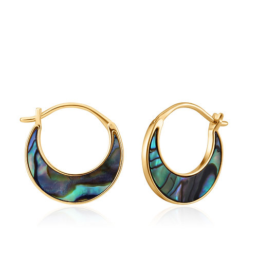 SS/GP Abalone Crescent Hoops