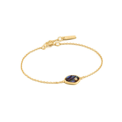 SS/GP Abalone Bracelet