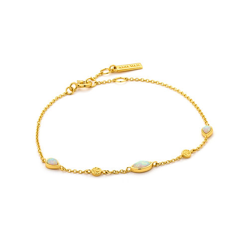 SS/GP Opal Color Bracelet