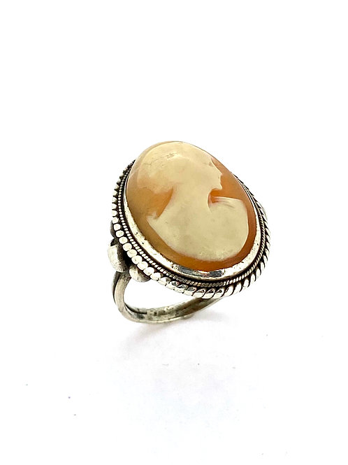 Estate SS Cameo Ring