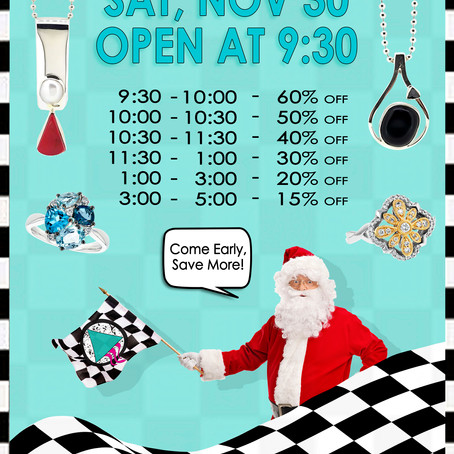 Race The Clock! Small Business Saturday