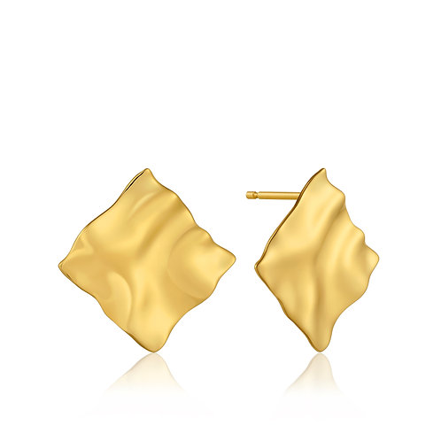 SS/GP Crush Square Stud Earring