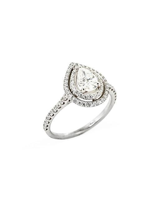 Estate 14KW Double Halo Engagement Ring