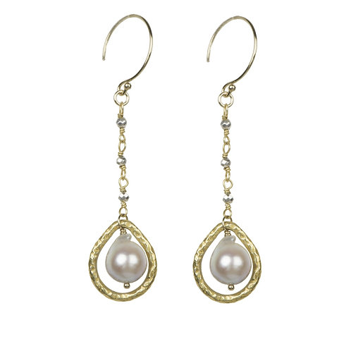 14KGF/18K Vermeil Freshwater Earrings