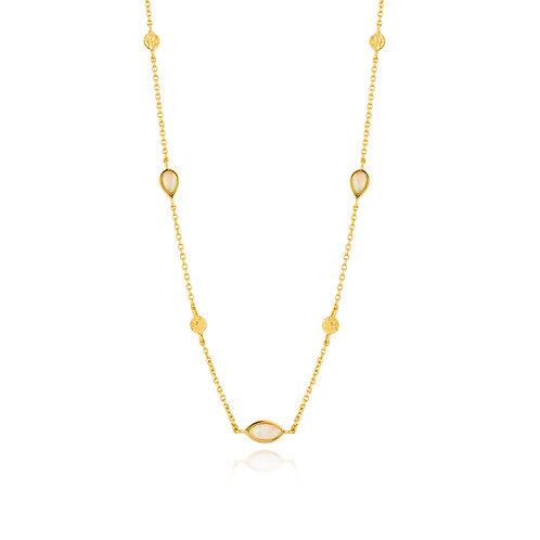 SS/GP Opal Color Necklace