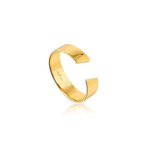 SS/GP Geometry Wide Adjustable Ring